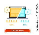 a b split testing. laptop...   Shutterstock .eps vector #311929856