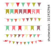party flags set vector... | Shutterstock .eps vector #311932964