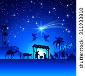 high detail vector nativity...   Shutterstock .eps vector #311933810
