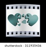 3d hearts family concept. the... | Shutterstock . vector #311935436