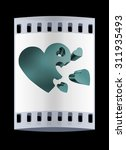 3d hearts family concept. the... | Shutterstock . vector #311935493