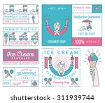 vector ice cream badges and... | Shutterstock .eps vector #311939744