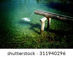 Rustic Water Feature With Wate...