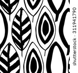 seamless decorative black and... | Shutterstock .eps vector #311941790