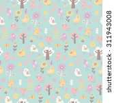 Sweet Seamless Pattern With...