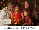 indian family in traditional...   Shutterstock . vector #311943278