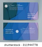 stylish business cards with... | Shutterstock .eps vector #311944778