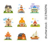 types of housing in different... | Shutterstock .eps vector #311960096