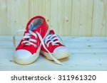 Old Red Shoes For Baby  On Woo...