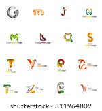 set of colorful abstract letter ... | Shutterstock .eps vector #311964809