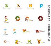 set of colorful abstract letter ... | Shutterstock . vector #311965508