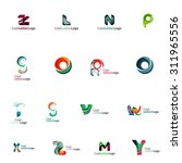 set of colorful abstract letter ... | Shutterstock . vector #311965556