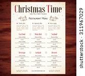 special christmas festive menu... | Shutterstock .eps vector #311967029