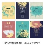 collection of grunge leaflet.... | Shutterstock .eps vector #311974994