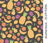 seamless pattern with juicy... | Shutterstock .eps vector #311975396