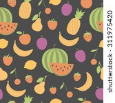 seamless pattern with juicy... | Shutterstock .eps vector #311975420