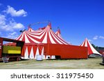 circus tent installed ready for ... | Shutterstock . vector #311975450
