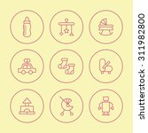 a vector graphic icon set for... | Shutterstock .eps vector #311982800