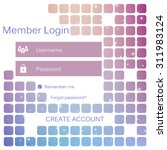 mobile vector user ui kit form...