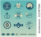set of icons  badges and labels ... | Shutterstock .eps vector #311987084