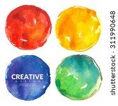 vector watercolor set of... | Shutterstock .eps vector #311990648