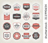 set of vintage labels for sale... | Shutterstock .eps vector #311990654