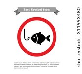 icon of fish silhouette and... | Shutterstock .eps vector #311993480