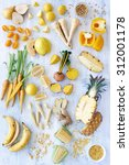 a selection of various fresh... | Shutterstock . vector #312001178