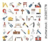flat icons   hand tools | Shutterstock .eps vector #312007778