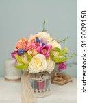 beautiful flower bouquet with... | Shutterstock . vector #312009158