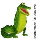 cute crocodile character | Shutterstock . vector #312009590