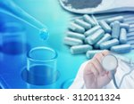 medical researching background | Shutterstock . vector #312011324