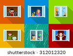 different people in city... | Shutterstock .eps vector #312012320
