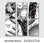 set of the grunge card... | Shutterstock .eps vector #312012710