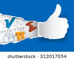 thumbs up with mathematical... | Shutterstock .eps vector #312017054