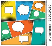 speech bubble in pop art style. ... | Shutterstock . vector #312019280