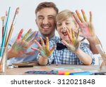 photo of art teacher and... | Shutterstock . vector #312021848