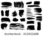 set of grunge vector textured... | Shutterstock .eps vector #312022688