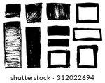 set of grunge vector textured... | Shutterstock .eps vector #312022694