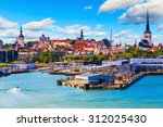 scenic summer view of the old... | Shutterstock . vector #312025430