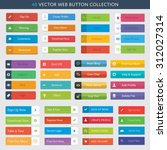 48 vector web button collection | Shutterstock .eps vector #312027314