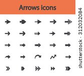 arrow sign flat icon set.... | Shutterstock .eps vector #312032084