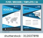 flyer design vector template in ... | Shutterstock .eps vector #312037898