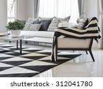 modern living room interior... | Shutterstock . vector #312041780