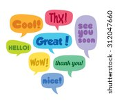colorful set of vector speech... | Shutterstock .eps vector #312047660