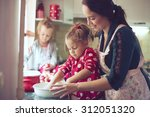 mother with her 5 years old... | Shutterstock . vector #312051320