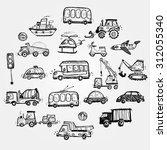 baby cars set. funny baby toys. ... | Shutterstock . vector #312055340
