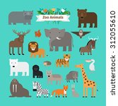 zoo animals | Shutterstock . vector #312055610