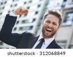 a young successful man  male... | Shutterstock . vector #312068849