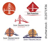 golden gate bridge san francisco | Shutterstock .eps vector #312071936